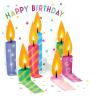 Popshots Studios Popshot 3D-s képeslap  mini  Születésnapi gyertyák