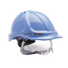 Portwest PW55 Endurance védősisak védőszemüveggel (ROYAL KÉK)