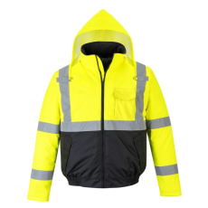 Portwest S363 - HiVis Value Bomber kabát - sárga/fekete