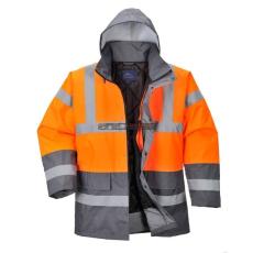 Portwest S467 Kéttónusú Traffic kabát (NARANCS/SZÜRKE)