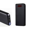 Power Bank, Remax Proda (PPL-14), 30000mAh, 2 USB csatlakozó, micro USB, LCD kijelzővel, fekete, bliszteres