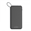 Powerbank: Joway JP130 fekete power bank 6000mAh 2A lightning kábellel