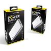 Powerbank: Joway JP82 ezüst fémházas power bank 10000mAh 2USB