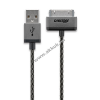 Powery Cabstone USB kábel - Apple (30pin) csatlakozóval iPhone iPad iPod MFI