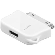 Powery USB-adapter Micro-USB -> iPhone – iPod, iPhone, vagy iPad fehér (nem Apple Lightning csatlakozó) tablet kellék