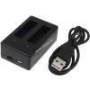 Powery USB-Akkutöltő 2db akkuhoz GoPro típus AHBBP-401
