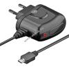 Powery USB hálózati töltő 220V micro-USB csatlakozóval 1,5m fekete (1,2A) Raspberry Pi