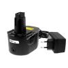 Powery Utángyártott akku Black & Decker Akkus fúró csavarbehajtó CD140GK2 Li-Ion +töltő
