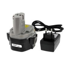 Powery Utángyártott akku Makita típus 1434 Li-Ion töltővel barkácsgép akkumulátor