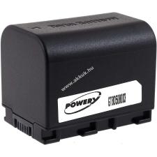 Powery Utángyártott akku videokamera JVC GZ-E205BEU 3,6V 2670mAh Li-Ion fekete (info chip-es) jvc videókamera akkumulátor