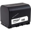 Powery Utángyártott akku videokamera JVC típus BN-VG107AC 3,6V 2670mAh Li-Ion fekete (info chip-es)