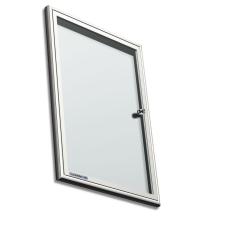 Premium beltéri fali vitrin és whiteboard egyben (kifelé nyíló ajtóval) 94,7x131,6 cm irodabútor