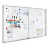 Premium beltéri fali vitrin és whiteboard egyben (tolóajtóval) 95,0x112,0 cm