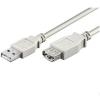 PremiumCord USB 2.0 hosszabbító 0,5 m fehér
