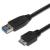 PremiumCord USB 3.0 interfész A-mikroba fekete 2 m