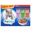 PreVital Mega Box teljes értékű állateledel felnőtt macskák számára szószban 3 ízben 24 x 100 g
