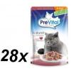 PreVital NATUREL párolt filé pulykahússal, zselében 28 x 85 g