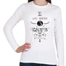 PRINTFASHION 3 macska előtt - Női hosszú ujjú póló - Fehér