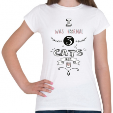 PRINTFASHION 3 macska előtt - Női póló - Fehér