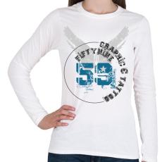 PRINTFASHION 59t&g-01.png - Női hosszú ujjú póló - Fehér