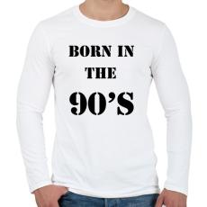 PRINTFASHION 90-ben született - Férfi hosszú ujjú póló - Fehér