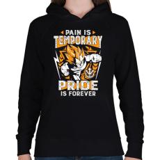 PRINTFASHION A fájdalom múlandó, a dicsőség örök - Női kapucnis pulóver - Fekete