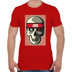 PRINTFASHION A gonosz - Férfi póló - Piros