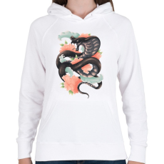 PRINTFASHION A kígyó legendája - Női kapucnis pulóver - Fehér