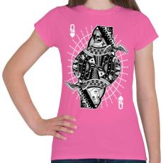 PRINTFASHION A királynő szerelme - Női póló - Rózsaszín