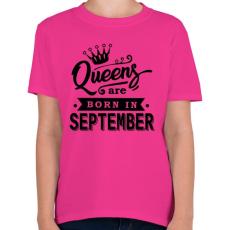 PRINTFASHION A királynők szeptemberben születnek - Gyerek póló - Helikónia
