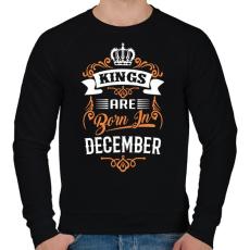 PRINTFASHION A királyok decemberben születnek - Férfi pulóver - Fekete