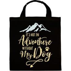 PRINTFASHION A kutyám nélkül nem kaland. - Vászontáska - Fekete