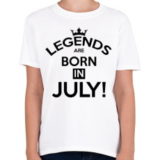 PRINTFASHION A legendák Júliusban születnak - Gyerek póló - Fehér