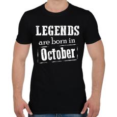 PRINTFASHION A legendák októberben születnek - Férfi póló - Fekete