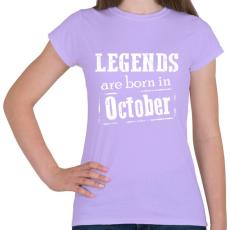 PRINTFASHION A legendák októberben születnek - Női póló - Viola