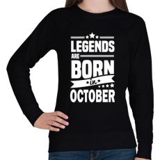 PRINTFASHION A legendák októberben születnek - Női pulóver - Fekete