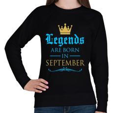 PRINTFASHION A legendák szeptemberben születnek - Női pulóver - Fekete