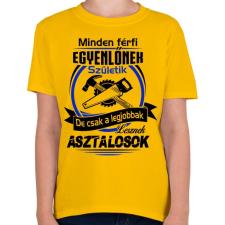 PRINTFASHION A legjobb asztalos - Gyerek póló - Sárga gyerek póló