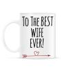 PRINTFASHION A legjobb feleségnek!  - Bögre - Fehér