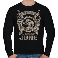 PRINTFASHION A legjobbak júniusban születnek - Férfi pulóver - Fekete