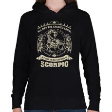 PRINTFASHION A legjobbak skorpiónak születtek - Női kapucnis pulóver - Fekete