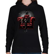 PRINTFASHION A rémálmod - Női kapucnis pulóver - Fekete