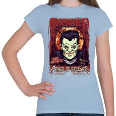 PRINTFASHION A sötétség hercege - Női póló - Világoskék