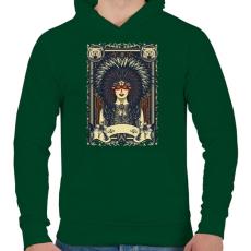 PRINTFASHION A szüzek törzse - Férfi kapucnis pulóver - Sötétzöld