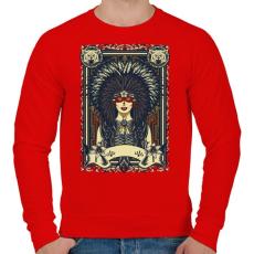PRINTFASHION A szüzek törzse - Férfi pulóver - Piros