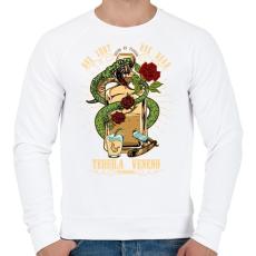 PRINTFASHION A tequila méreg - Férfi pulóver - Fehér