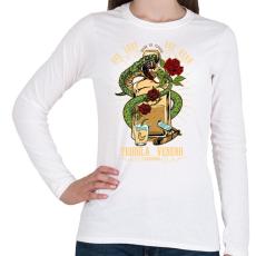 PRINTFASHION A tequila méreg - Női hosszú ujjú póló - Fehér