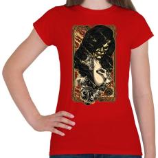 PRINTFASHION A tűz rejtett arca - Női póló - Piros