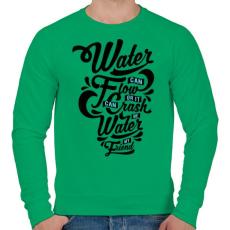 PRINTFASHION A víz a barátom  - Férfi pulóver - Zöld