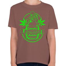 PRINTFASHION A zöld tündér itala - Gyerek póló - Mogyoróbarna